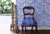 Wallpaper, paint, and design / Interior design beauty / by Elizabeth Maines