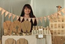 Craft Fair Display / We used to find it sooooo difficult to create the right look at craft fairs! Still do! These pins are our inspiration to strive for a better display!