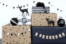Holidays Ernest Style / Holiday decor, ornaments, black and white design, natural
