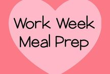 Workweek Meal Prep / Mealprep to keep healthy during the week. Planned lunches for adults and kids.