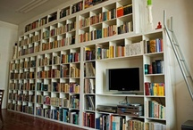 Radcliff House - Book shelves for big fat hallway / by Sarah S.R.