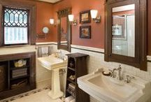 Remodeled Bathrooms / These are NOT original 1900s bathrooms, but modern builds or remodels, with modern conveniences, done in a traditional style to blend with an historic home. / by Craftsman Junky