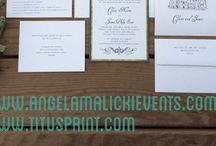 Angela MALICKI events  and Titus Print portfolio of fabulousness / This is a sneak preview of our weddings and stationery we designed , for more info check out www.angelamalickievents.com and www.titusprint.com