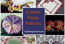 Crochet Pansy Patterns