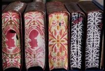 endpapers / marbleized papers, paste papers, and also those interesting things they sometimes appear in - antique books.