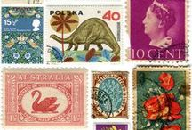 all enveloping / Envelope art, beautiful postage stamps, and antique letters.