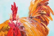 chicken & rooster art / by Barbara (Olyve) Harvie