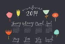 year at a glance / Yearly calendars of the one page variety,  but endless in creative possibility.