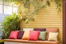 Outdoor Decorating Inspiration / Interesting and pretty things for the yard, garden & patio