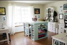 Craft Rooms / Where women create lovely things / by Sharon Sellers