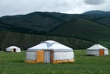 Community Environs - Nomad / Camp Inspirations. Small, Mobile, yet still can be luxurious and fun. Includes Yurts/Gerts, Vardos, Caravans, Wagons, Campers, and Trailers. / by Rua Lupa