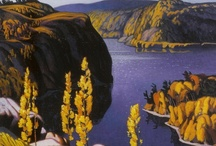 ART - Group of Seven & Friends / The Group of Seven, sometimes known as the Algonquin school, were a group of Canadian landscape painters from 1920-1933, originally consisting of Franklin Carmichael (1890-1945), Lawren Harris (1885-1970), A. Y. Jackson (1882-1972), Franz Johnston (1888-1949), Arthur Lismer (1885-1969), J. E. H. MacDonald (1873-1932), and Frederick Varley (1881-1969).Though Tom Thomson died in 1917 -before the official formation of the group- the members still considered him one of the group's founders. / by Rua Lupa