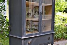 Sideboards, Hutches, and Cupboards / refinished, cottage, farmhouse, french, swedish, upcycled, salvaged, painted furniture