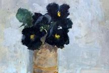 FLOWERS IN VASES AND POTS / paintings / by Hilary Bravo