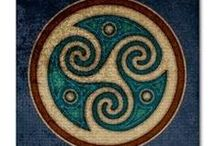 ART - Pictish & Norse / Knotwork first appeared in Ireland, Scotland and northern England in the early 7th century. It is frequently misinterpreted and repeated that knotwork was a survival from an older Celtic-Druidic tradition, which was renewed by Christian Celtics. This may be true of spiral motifs, which had a history in Celtic art going back for thousands of years, but not so for knotwork. / by Rua Lupa