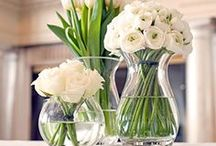 Pretty Florals / Inspiration from simple floral arrangements for home to floral crowns.