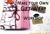 Gift Wrap-Make Your Own / Ideas and inspiration for making your own gift wrap.