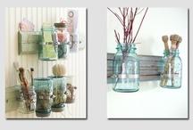 Jar crafts / by Ann (Vintage River Ranch)