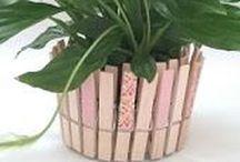 DIY maceta / Maceta DIY hecha con pinzas de madera decoradas con washi tape http://notonlyparties.blogspot.com.es/
