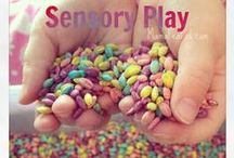 Sensory Play / Sensory play doesn't need to be confined to a bin - there are lots of ways to enjoy simple, sensory play every day! (Though sensory bins are fun, too!)