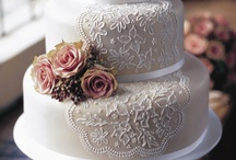 Wedding Cakes / cakes, food, unique, beautiful, eat, yummy, stunning, gorgeous, cupcakes, different, vintage, inspired, disney, lovely, pretty, small, tall, round, square, lace, floral, flowers, white, his, hers