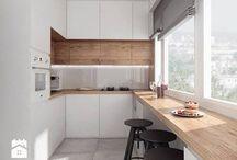 Kitchen / Inspriationen zum Thema Küche in einer Doppehaushälfte, offene Küche