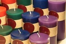 Colored Beeswax Candles / Love beeswax and color?