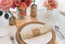 ~:Wedding Trend:~ Rustic Chic / Rustic weddings are filled with textures, organics, patterns and other characteristic details. So what are some of the fun, distinctive details that define a rustic wedding? There's burlap, lace, twine, cowboy boots, suspenders, checks, plaid, wool, linen, mason jars, wooden signs, monograms, sweet tea, homemade food and even barns.