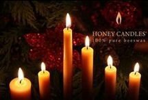 Beeswax Candles for Christmas / A down home Christmas includes the natural honey scent of beeswax candles