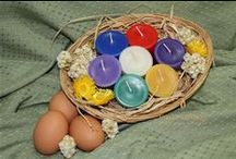 Beeswax Candles for Spring / Beeswax candles in fresh spring colors!