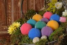 Beeswax Candles for Easter / Beeswax candles that will get attention at Easter!