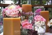 Beeswax Candles for your Wedding / Beeswax is the best natural candle for your wedding