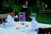 Beeswax Candles - Candlescapes / Beautiful arrangements and tablescapes with beeswax candles