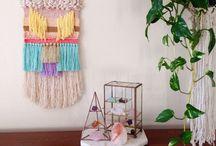 DIY weaving and wall decor