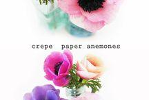 Paper/crepe flowers