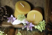 Beeswax Candles naturally scented / Beeswax candles are naturally honey scented, then we have the Essentials line scented with pure essential oils