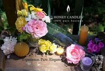 Beeswax Candle Party Table Centers / Dress Up a party with a beeswax candles center piece