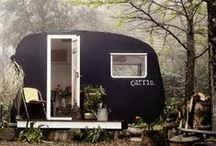 ~ Tiny Spaces ~ / Cottages, tree houses, caravans, tents and huts. Living small can still mean living with style.