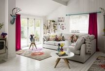 Bohemian Brights / A riot of colour and texture, accented with contrasting cushions and bright upholstery.  / by M&S