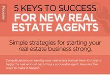 New Real Estate Agent Success / Are you a beginner real estate agent? Learn the tips and tricks to start off on the right foot.