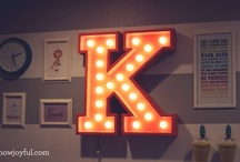 """K"" / by Kimberly Green Gonzalez"
