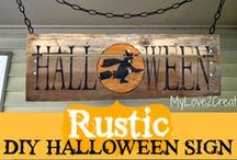 DIY Halloween Decor / Do it yourself items to decorate your home for Halloween.
