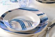 Patterned dinnerware from la Terrine / There are so many beautiful dinnerware styles and designers to choose from at laterrinedirect.com. This board includes all of our handmade patterned dinnerware perfect for any occasion!  / by la Terrine