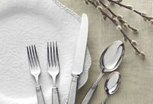 Pewter Flatware / Pewter is one of the most sustainable metals that you can be sure wont damage or chip. Take a look at these beautiful flatware designs and maybe one of them could end up on your bridal registry checklist at www.laterrinedirect.com  / by la Terrine