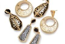 Filagree Collection / Swirling gilded metalwork shines brightly combined with Miriam's classic resin.