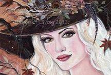 Fantasy Art witches, fairies, mermaids, dragons / Fantasy art by Renee L. Lavoie  witches, fairies, mermaids, dragons , original art, fantasy art prints
