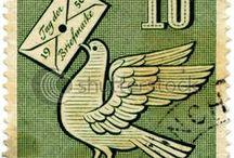 Art: MAIL ART / art on envelopes, postage stamps, etc ...