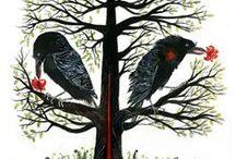 Art: Crows & Ravens / art & illustrations of crows, ravens and black birds