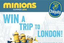 Minions Love Bananas / Tally Ho! Off the Minions Go. Follow them to MinionsLoveBananas.com  for your chance to win a trip for 4 to London. #MinionsLoveBananas