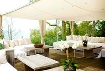 White Outdoor Spaces / by Jordana - White Cabana